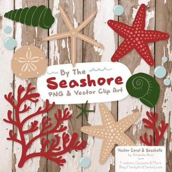 Christmas Coral & Seashells Clipart