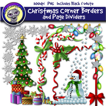 Christmas Top Border Png.Christmas Clip Art Corner Borders Page Dividers