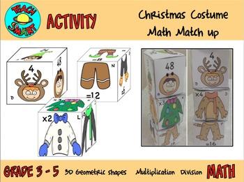 Christmas Costume Math Match Up