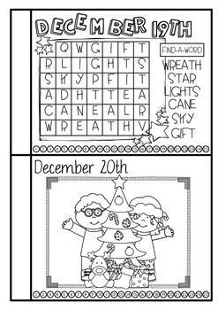 Christmas Activities {Christmas Countdown Book}
