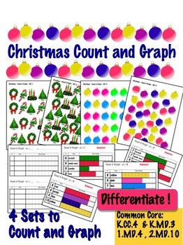 Christmas Count & Graph  - Common Core Measurement & Data