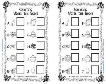 Christmas Count & Graph: Write the Room
