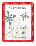 Christmas Count and CIip Cards with Matching and Syllable Sorting