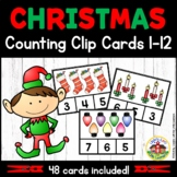Christmas Count and Clip Cards 1-12