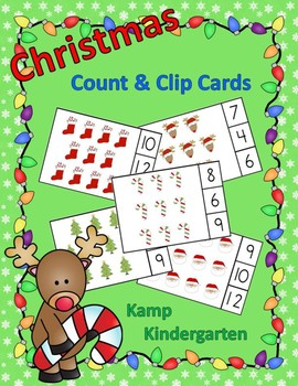 Christmas Count and Clip Cards Sets to 12