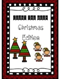 Christmas Count the Room Math Center 0-10