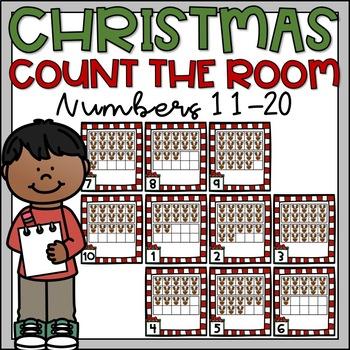 Christmas Count the Room Teen Number Ten Frames 11-20