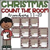 Count the Room Teen Numbers Christmas Ten Frames 11-20