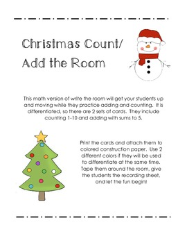 Christmas Count/Add the room