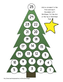 photo regarding Printable Christmas Countdown named Xmas Countdown: 4 tremendous lovely printable practices toward rely down towards Xmas