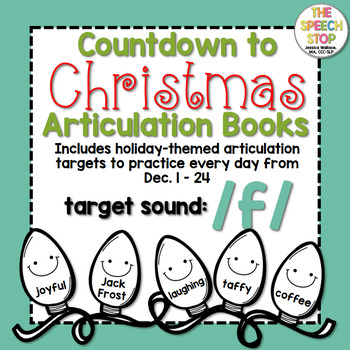Christmas Countdown Articulation Book: /f/