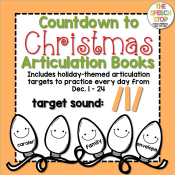 Christmas Countdown Articulation Book - /l/