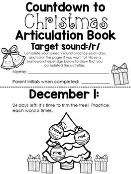 Christmas Countdown Articulation Book - /r/