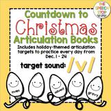 Christmas Countdown Articulation Book - /v/