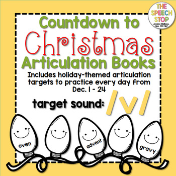 Christmas Countdown Articulation Book - /v/