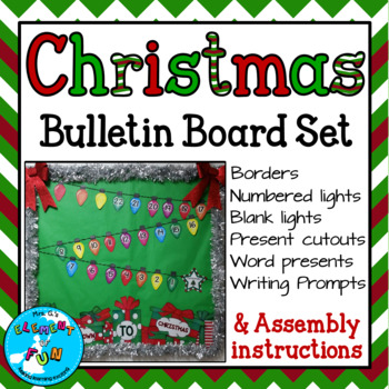 Christmas Count Down.Christmas Countdown Bulletin Board Set December Bb