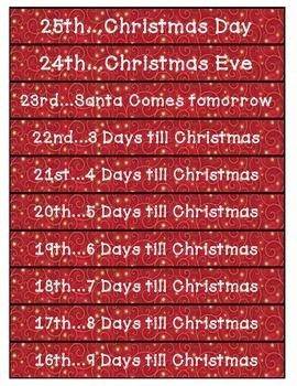 Seasonal: Christmas Countdown Chain