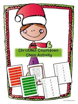 Christmas Countdown Chain Activity