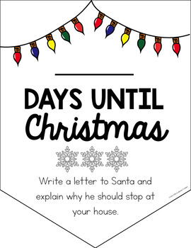 Christmas Countdown Daily Writing Prompts