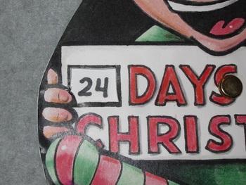 Christmas Countdown Elf Fun Paper PlateArt Craft