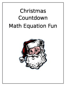 Christmas Countdown Equal Equations