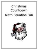 Christmas Countdown Equal Equations