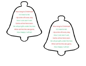 Christmas Countdown Fluency Poem By Cooper S Corner Tpt