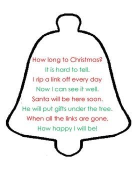 Christmas Countdown Fluency Poem