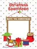 Christmas Countdown Math File Folder Activity Manipulative