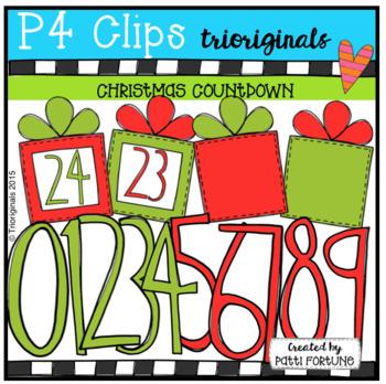 Christmas Countdown {P4 Clips Trioriginals Digital Clip Art}