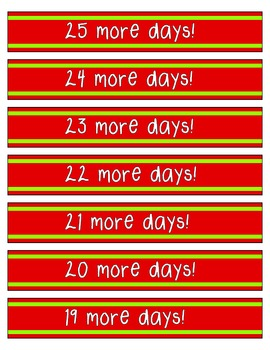 How Many Days Til Christmas.Christmas Countdown Paper Chain