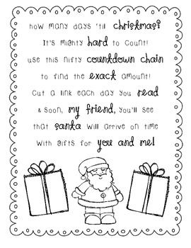 How Many Days Til Christmas.Christmas Countdown Poem