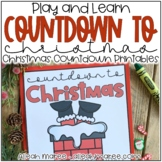 Christmas Countdown Printables - Busy Books for Little Learners