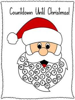 Christmas Countdown Santa Claus FREEBIE!!