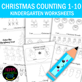 Christmas Counting 1-10 Activity Book for Pre-K/ Kindergarten
