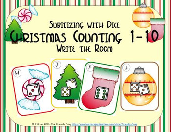 Christmas Counting 1-10 {Subitizing with Dice}