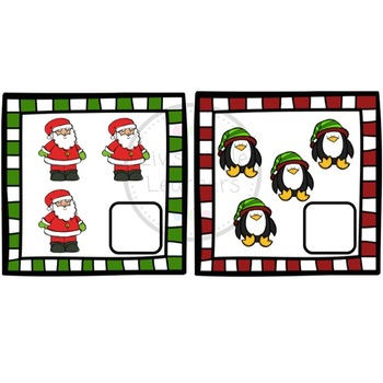 Christmas Counting Cards (numbers 1-20)