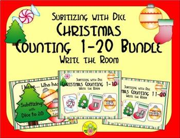 Christmas Counting 1-20 Bundle {Subitizing with Dice}