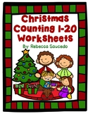 Christmas Counting 1-20 Math Worksheets