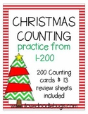 Christmas Counting 1-200 {Counting Cards & Review Sheets}