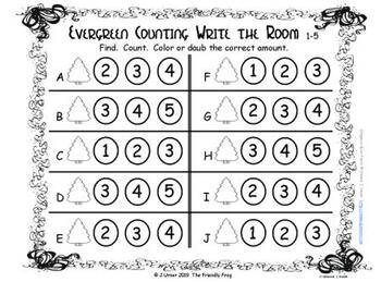 Christmas Counting 1-5 {Subitizing with Tally Marks}