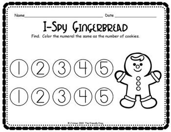 Christmas Counting 1-5 for Beginners Bundle