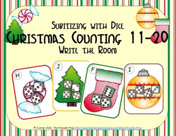 Christmas Counting 11-20 {Subitizing with Dice}
