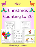 Christmas Counting up to 20 - worksheets, games, taskcards and activities