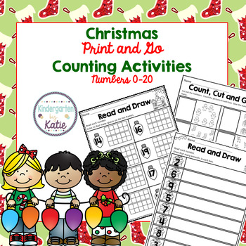 Christmas Counting Activities- Numbers 0-20
