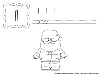 Christmas Counting Activity Book, 0-10