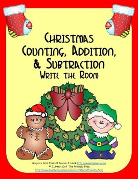 Christmas Counting, Addition & Subtraction: Write the Room