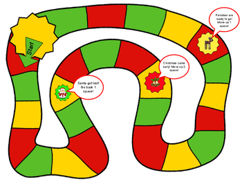 Christmas Counting Board Game 1.NBT.1 Counting to 120