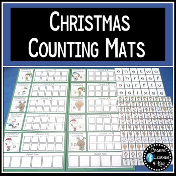 Christmas Counting Matching Boards Numbers 1-10
