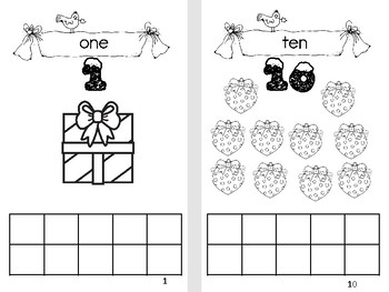 Christmas Counting Book 1 to 10